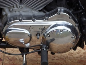 polished motorcycle aluminum