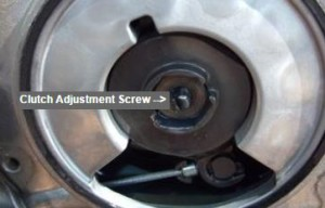Clutch Adjustment Screw